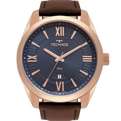 Relógio Technos Masculino Rose Pulseira de Couro 2115MSO/2A