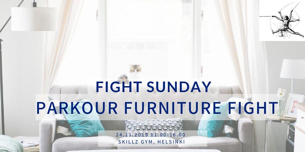 Fight Sunday: Parkour Furniture Fight