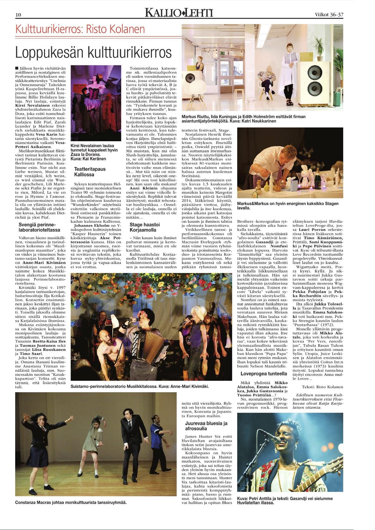 Kallio-lehti 07.09.2016- Perinnelaboratorio