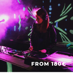 Female DJ Set: Mixing Classic Tracks and Top 40 with Light Show Performance