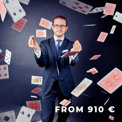 Enter the world of magic with a celebrated magician