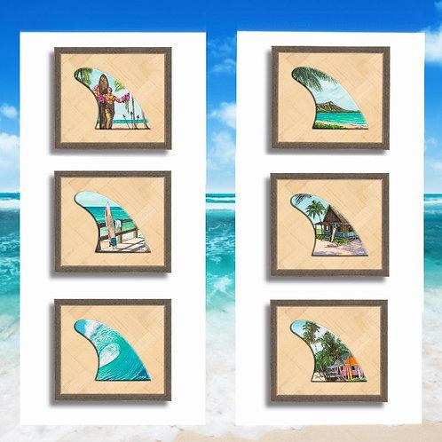 Single Surf Fin Shadowbox (6 styles)