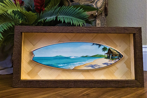 A Hui Hou Surfboard (Open Shadowbox)