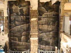 Elevator Shaft Rock mural