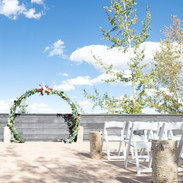 Our deck with the mountain view is waiting for your event.