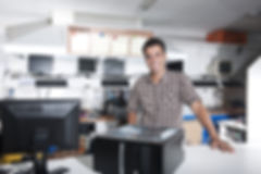 Small business_  owner of a computer rep