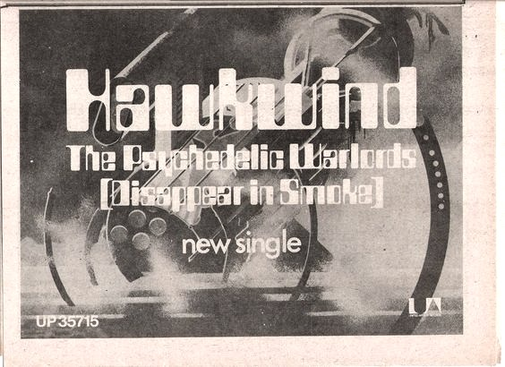Psychedelic Warlords UK press ad