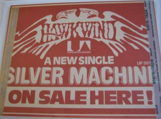 Silver Machine UK in-store poster