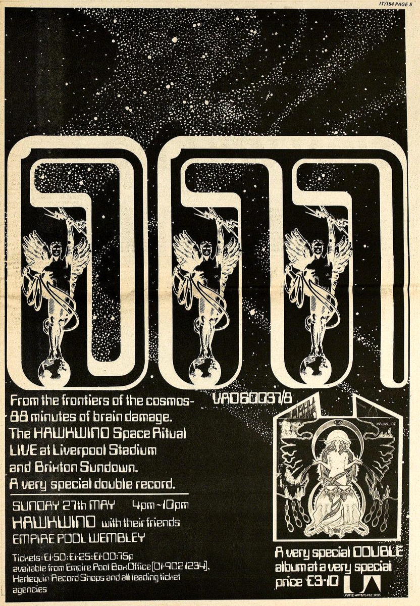 Space Ritual UK press ad