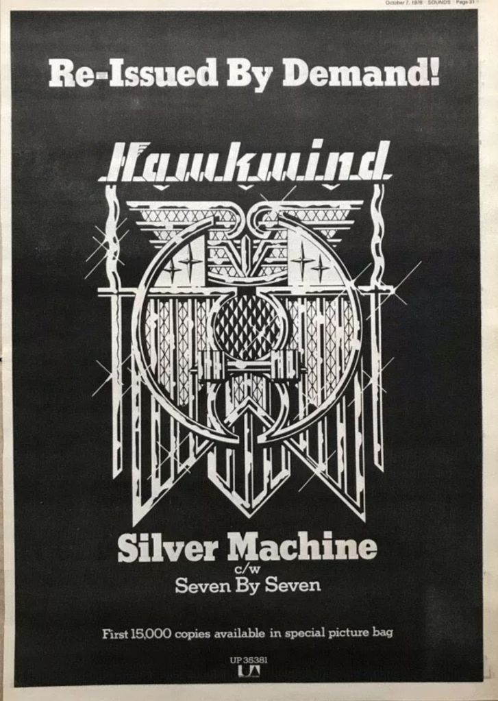 Silver Machine (reissue) UK press ad v1