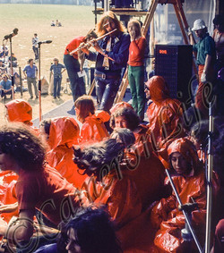 Isle Of Wight festival 1970 - Nik Turner on stage with Gilberto Gil & Caetano Veloso - Charles Evere
