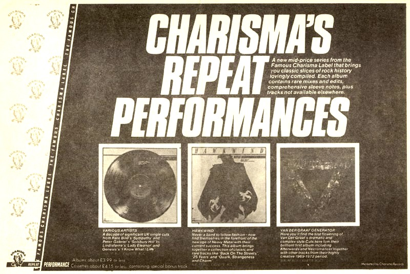 Repeat Performance UK press ad