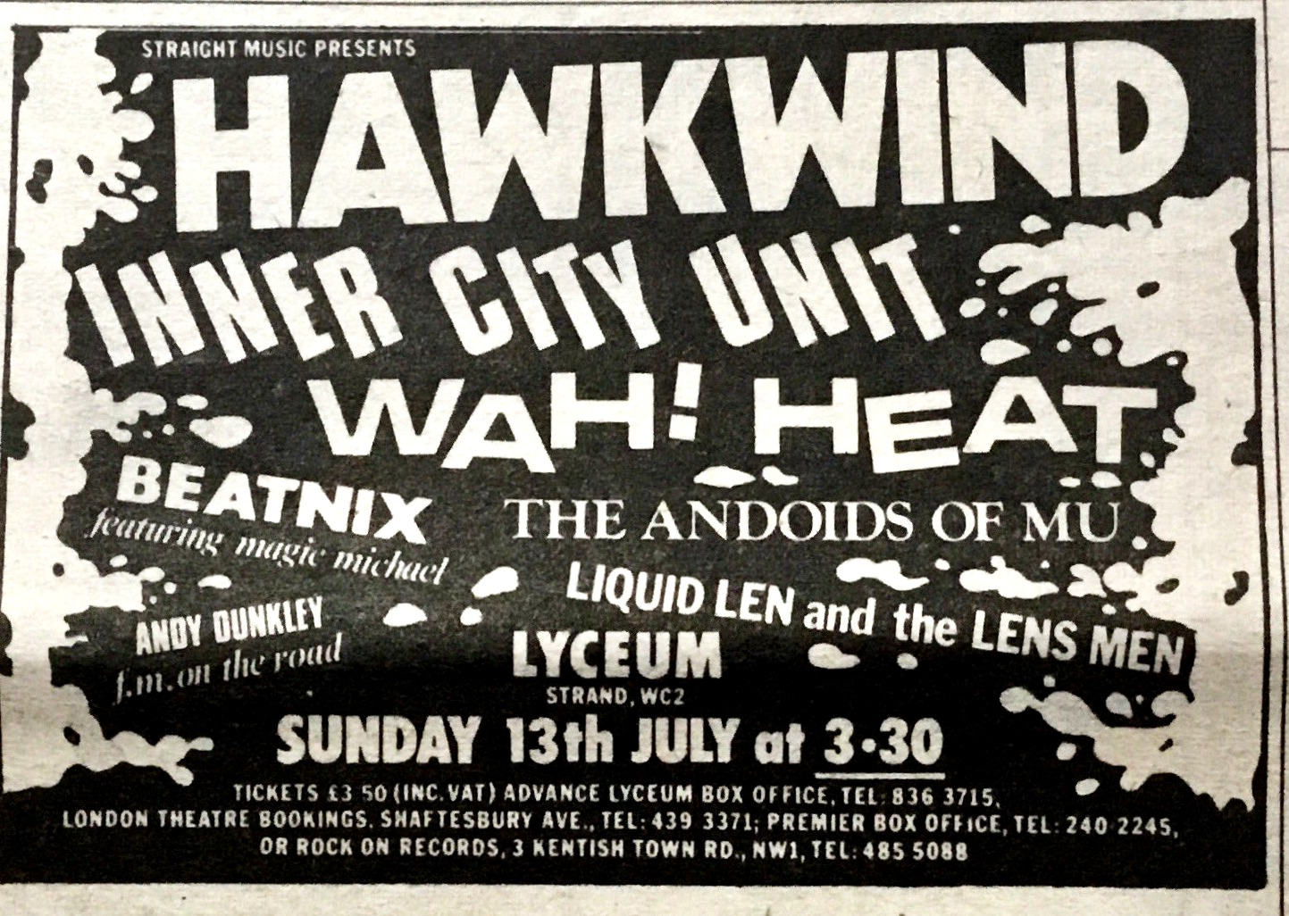 13.07.80 early line-up