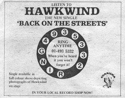 Back On The Streets UK press ad