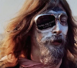 Outside the Isle Of Wight festival, 27-21 August 1970