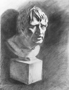 Sketch - Old Man (Plaster Statue  2019)_
