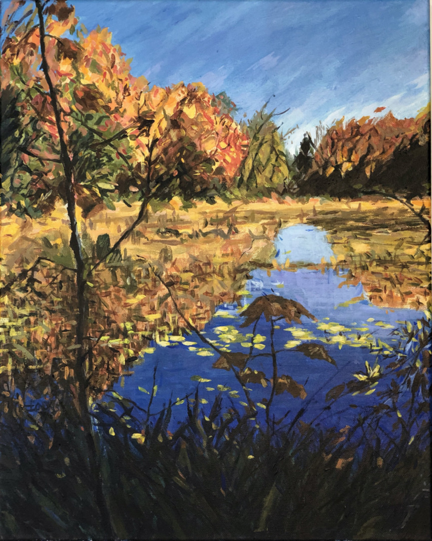 Acrylic - Beside Lake (Banff 2019)_Small