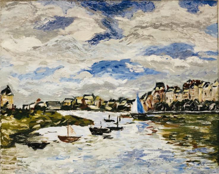Oil Painting - Lake at Fall (2016)_Small