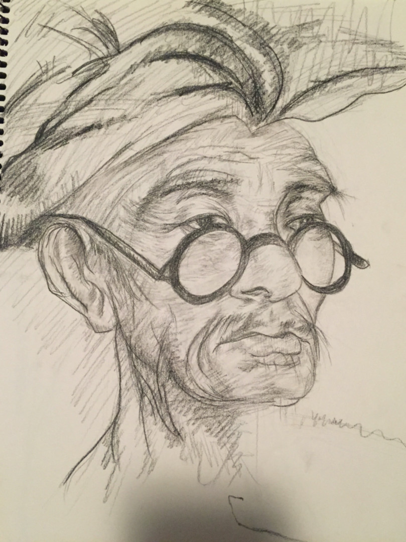 Charcoal - Teacher in Glasses (2016)_Sma