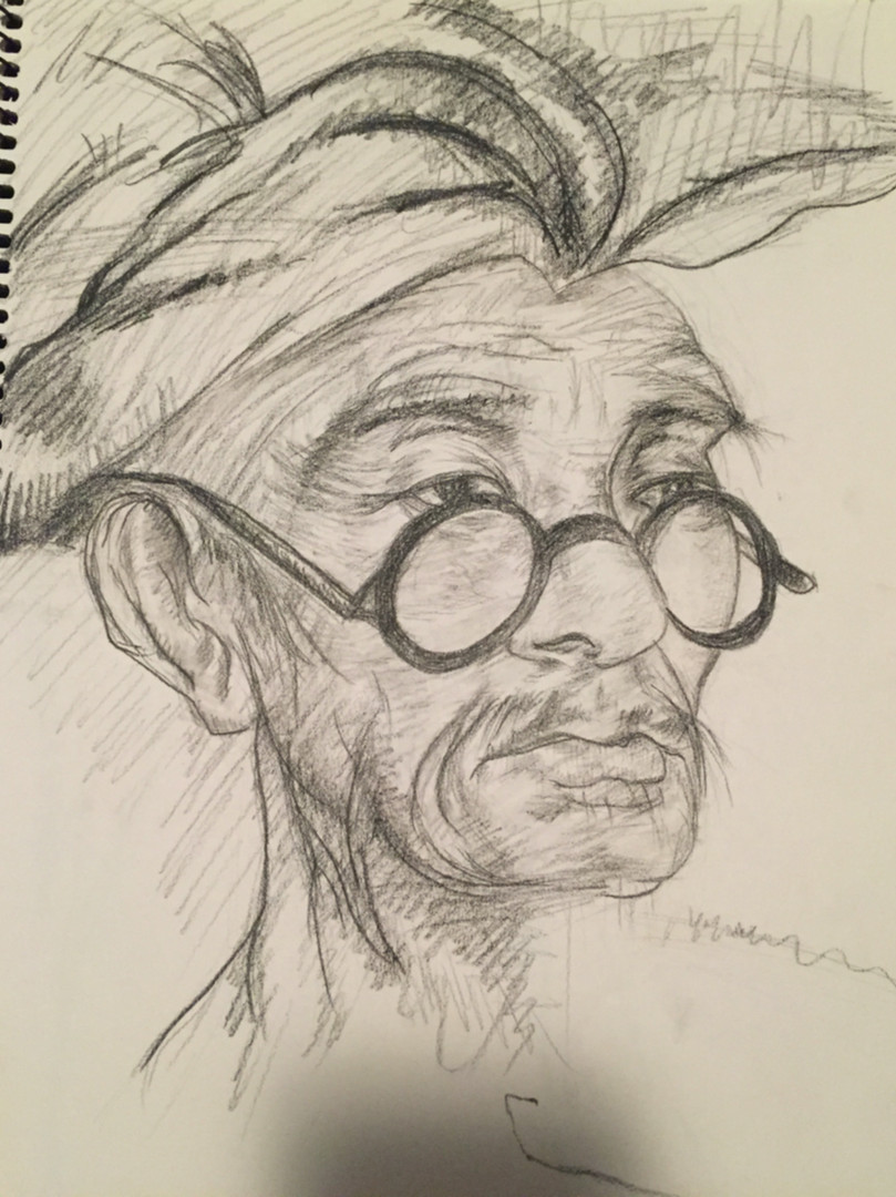 Charcoal - Teacher in Glasses (2016)_Sma