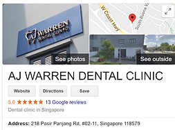 AJ Warren, Dental Clinic, Singapore