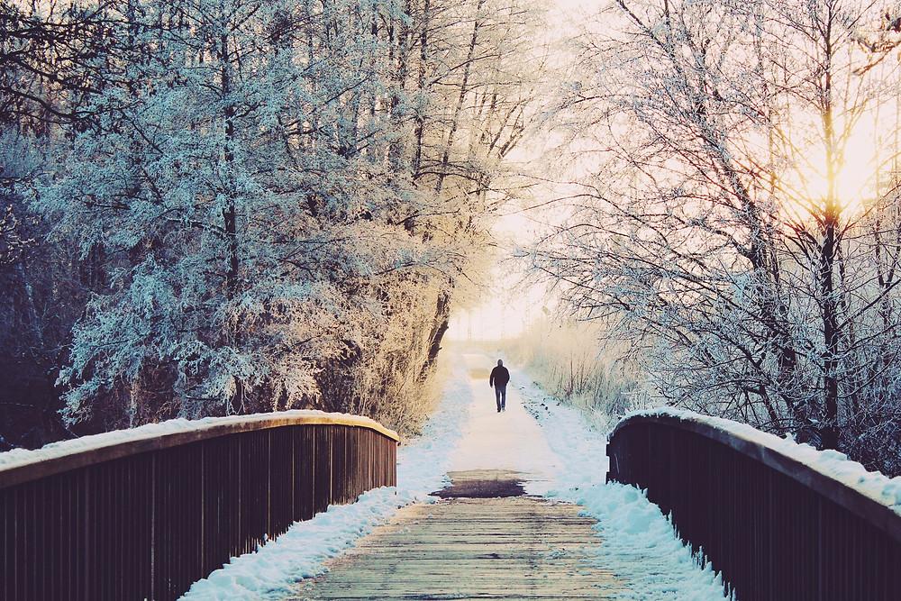 Walking winter