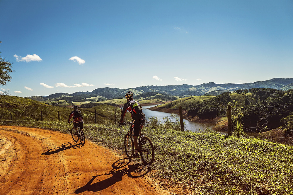 bicycles on dirt road