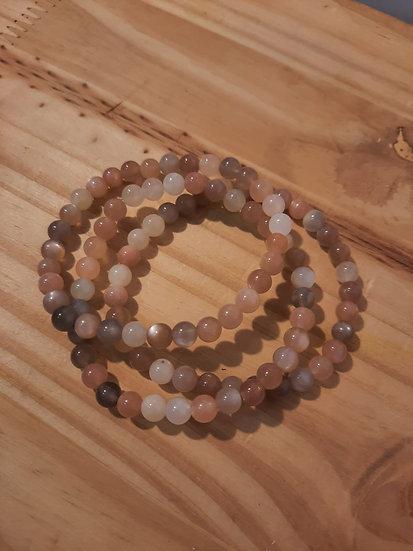 bracelet pierre de lune qualité AA 6mm