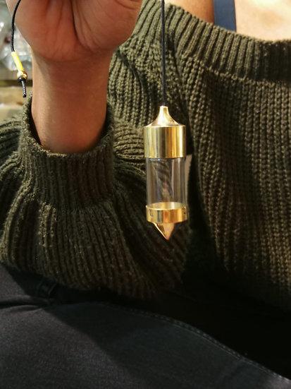 pendule cone transparent