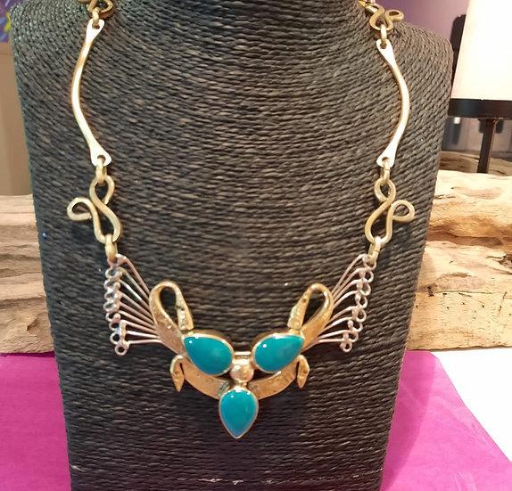 Collier trois turquoise