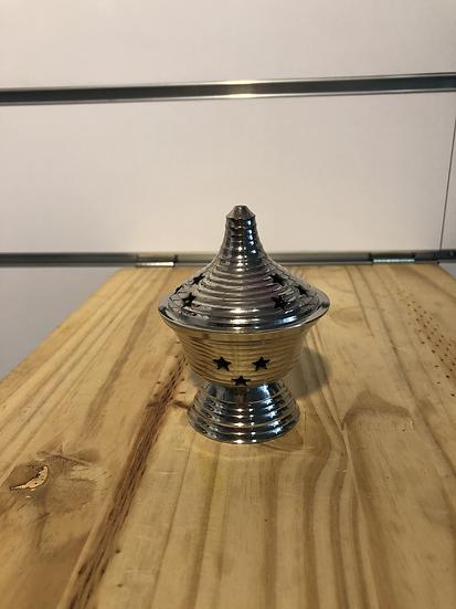 encensoir en métal gris