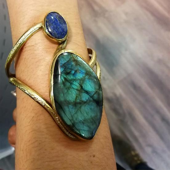 Bracelet Labradorite/Lapis Lazuli