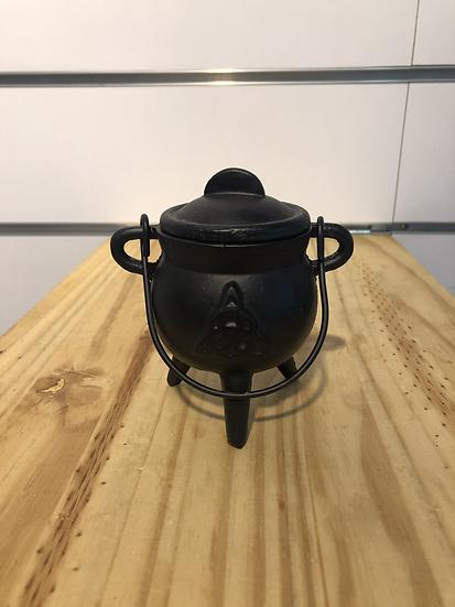 encensoir chaudron en fonte pour charbon