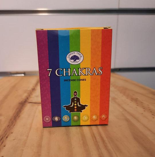 encens cône 7 chakras
