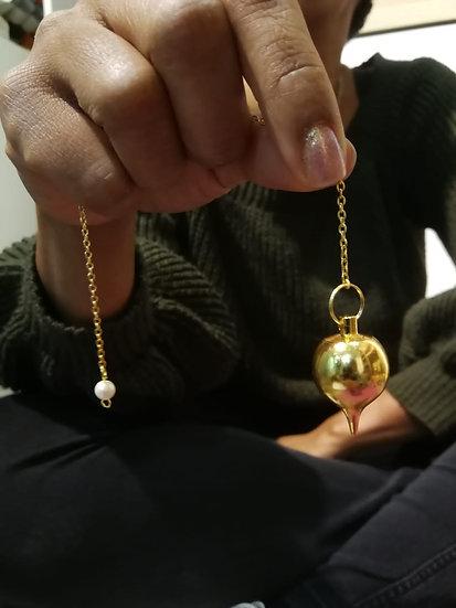 pendule goutte gold