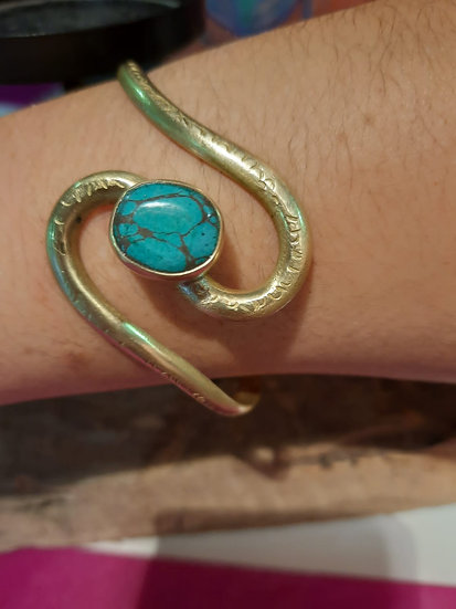 Bracelet turquoise torsade