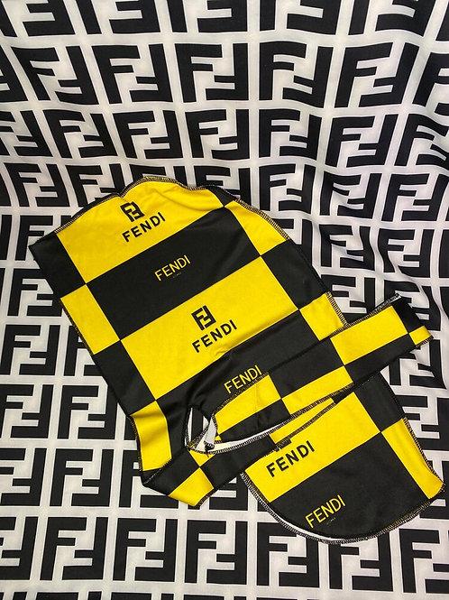 Yellow & Black Fendi Durag