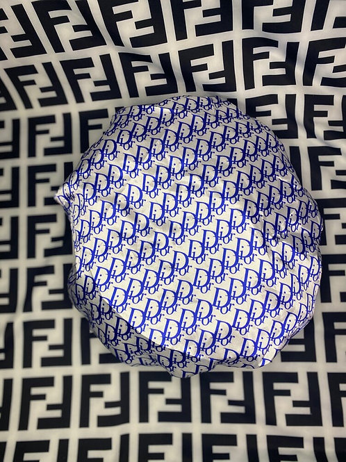 Blue & White Dior Bonnet