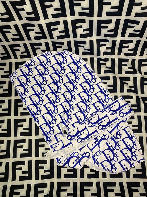 Blue & White Dior Durag