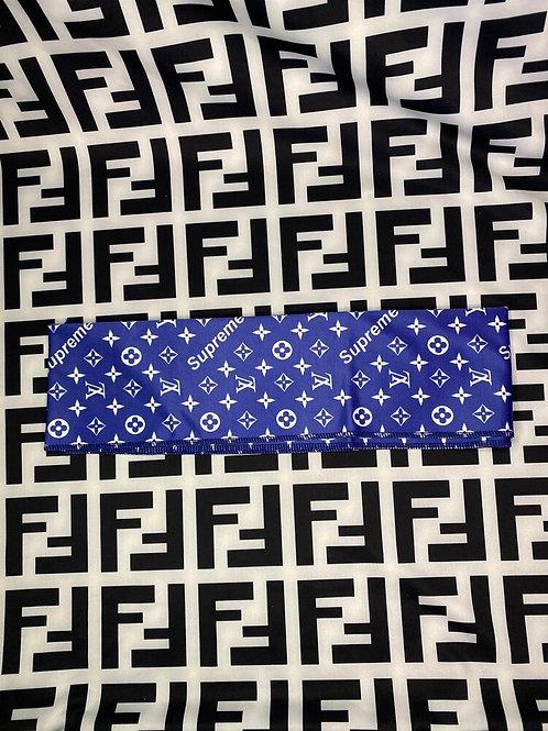 Blue LV Supreme Headband