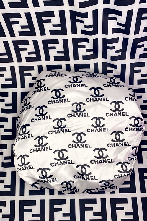 White & Black Chanel Bonnet
