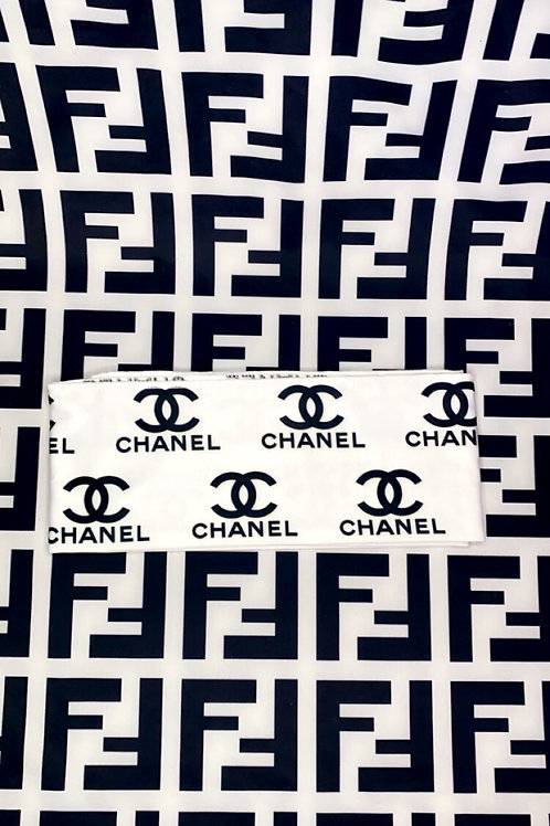 White & Black Chanel Headband