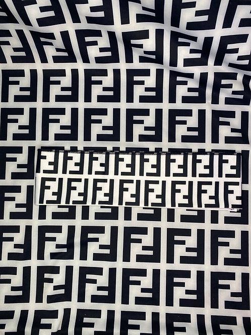Black & White Fendi Headband