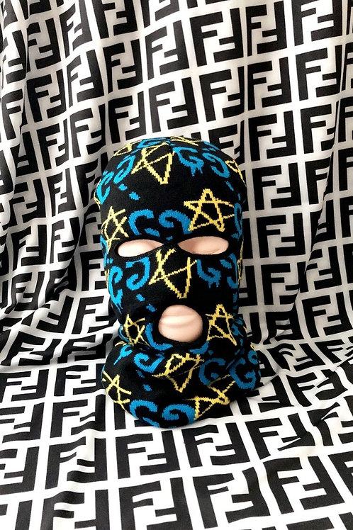 Blue Yellow & Black Ski Mask
