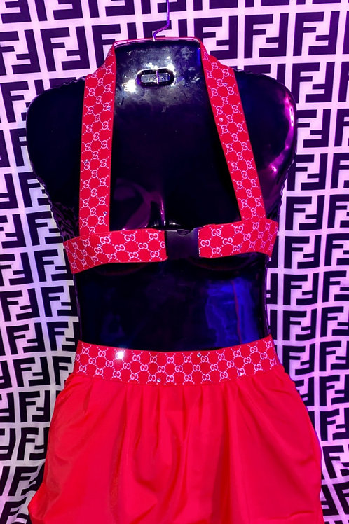 Red Gucci Skirt Set