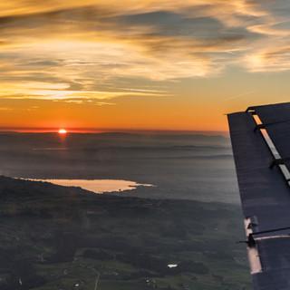 Ju 52 Sonnenuntergang