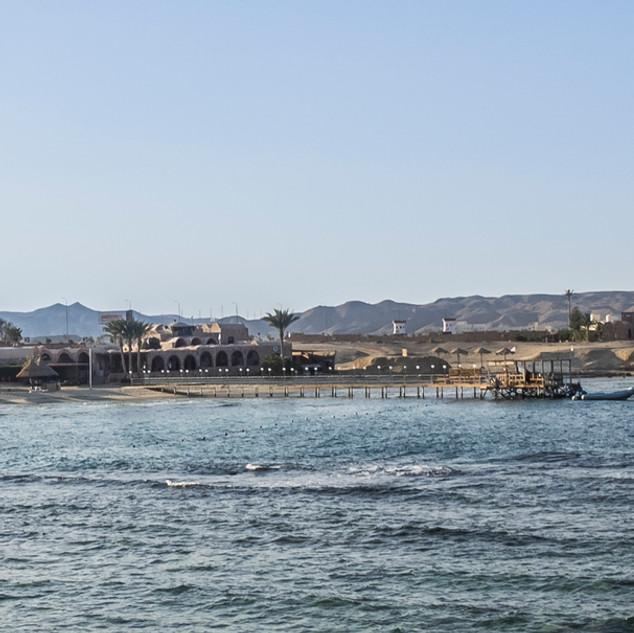 Strand und Steg