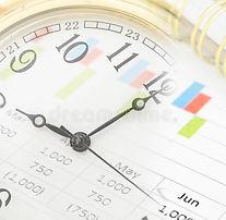 gráfico-del-informe-del-reloj-y-de-merca
