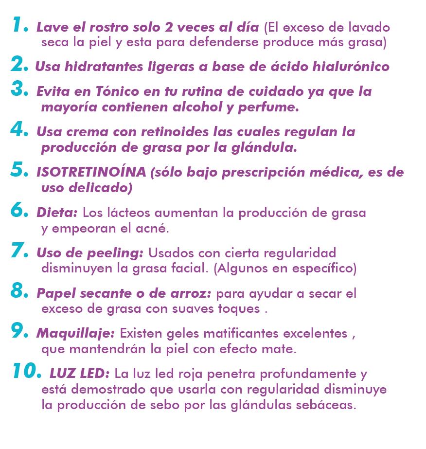 10 tips para Piel Grasa