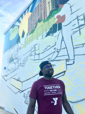 Kofi Darku excited about the mural!
